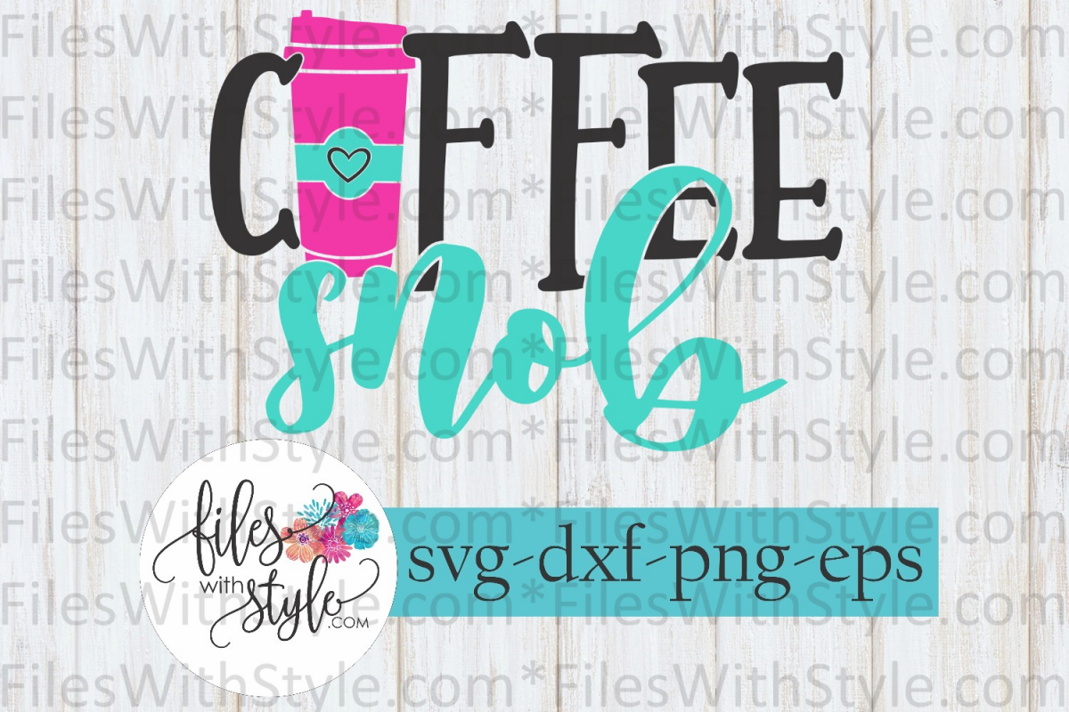 Coffee Snob Love Language SVG Cutting Files example image 1