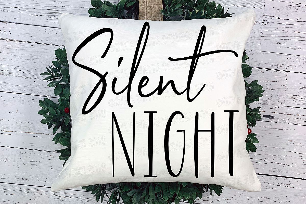 Silent Night Christmas Hymn Cutting File example image 1