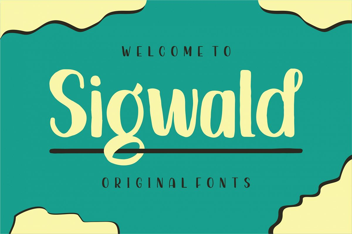 Sigwald - Handdrawn Fonts example image 1
