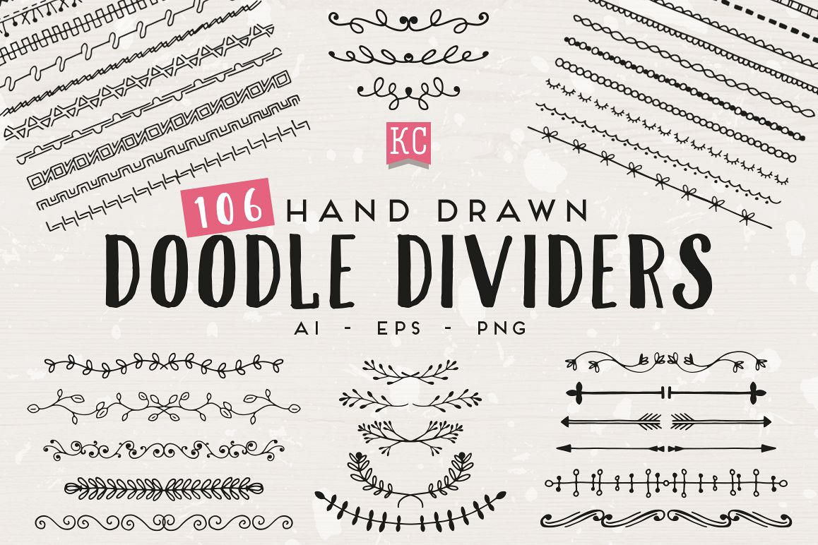 Hand Drawn Doodle Dividers example image 1