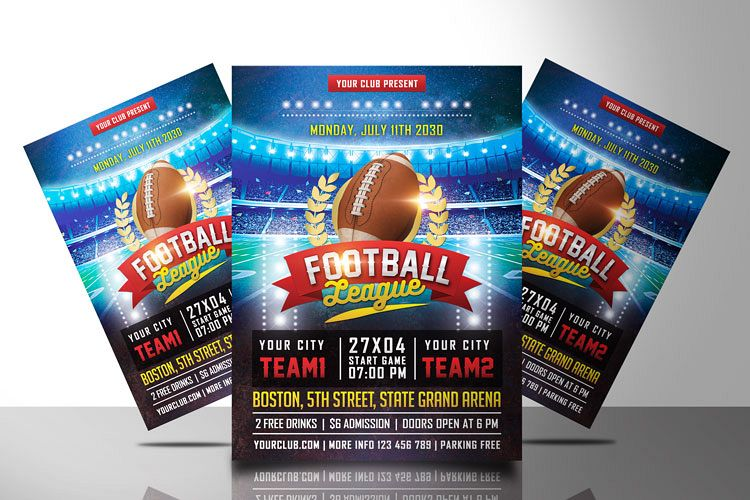 AMERICAN FOOTBALL FLYER example image 1