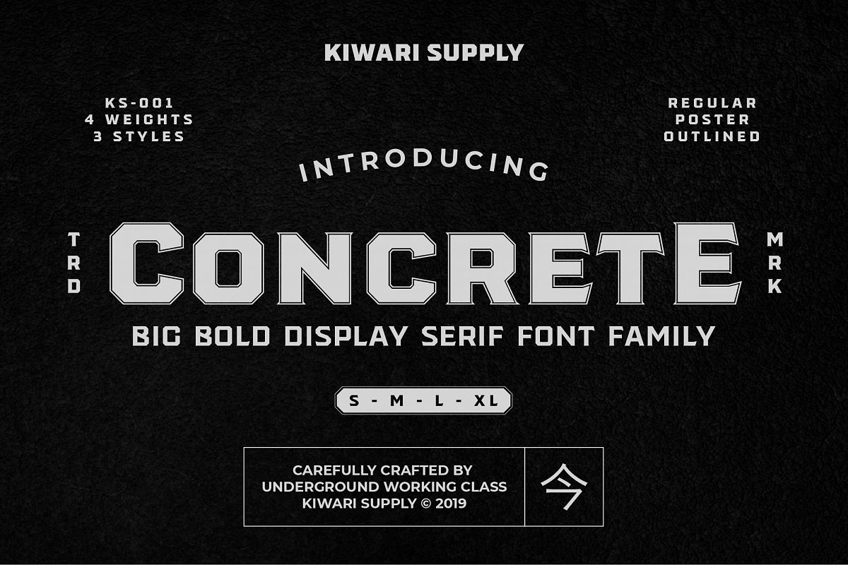 Concrete Display Font Family example image 1