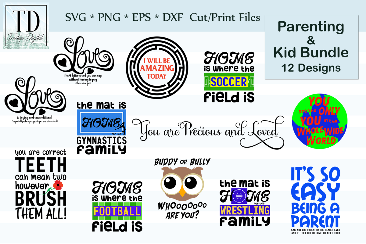 Parenting & Kid Bundle, A Serious and Funny SVG Bundle example image 1