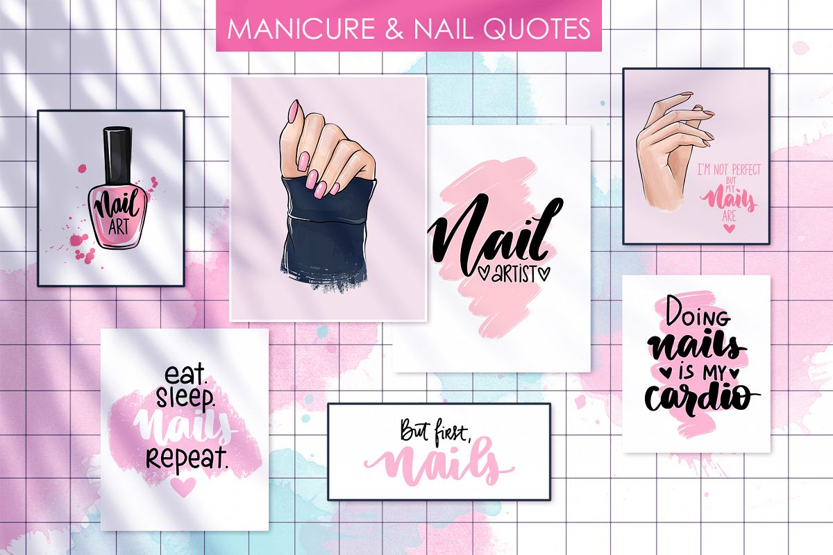Manicure, hands, nails. example image 1