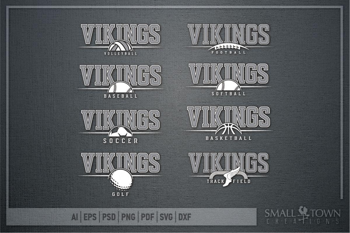 2aa6e0ed Viking Sports Bundle, Logo, Team Mascot, PRINT, CUT & DESIGN