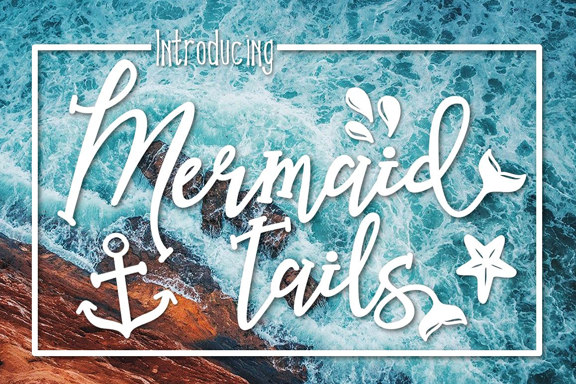 Mermaid Tails a Handwritten Typeface example image 1