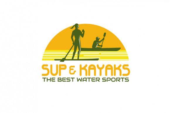 SUP and Kayak Water Sports Retro example image 1