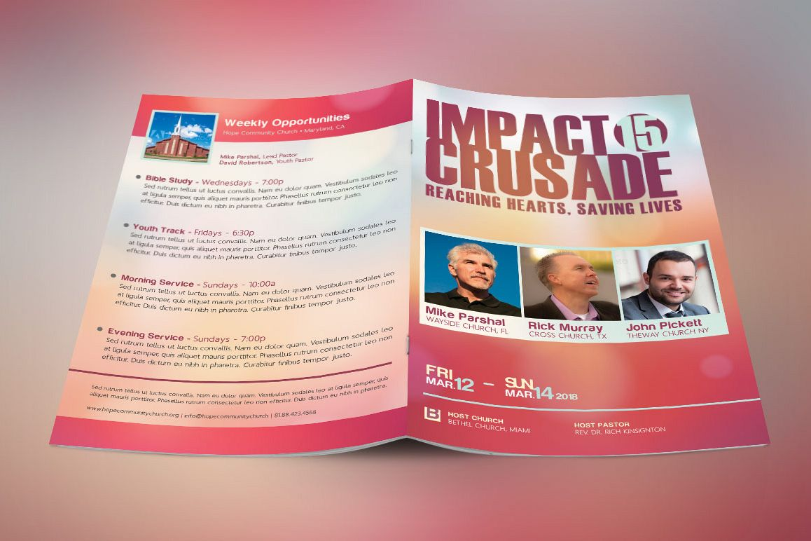 Gospel Crusade Program Template example image 1