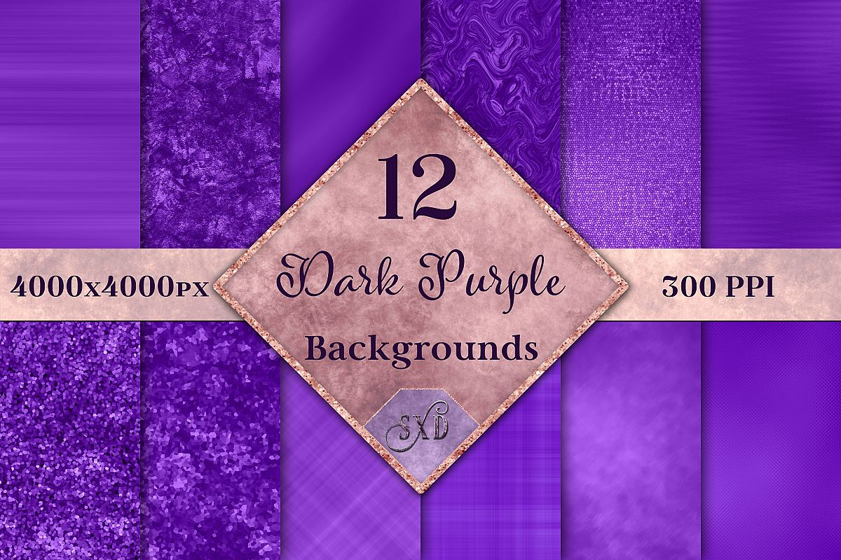 Dark Purple Backgrounds - 12 Image Set example image 1