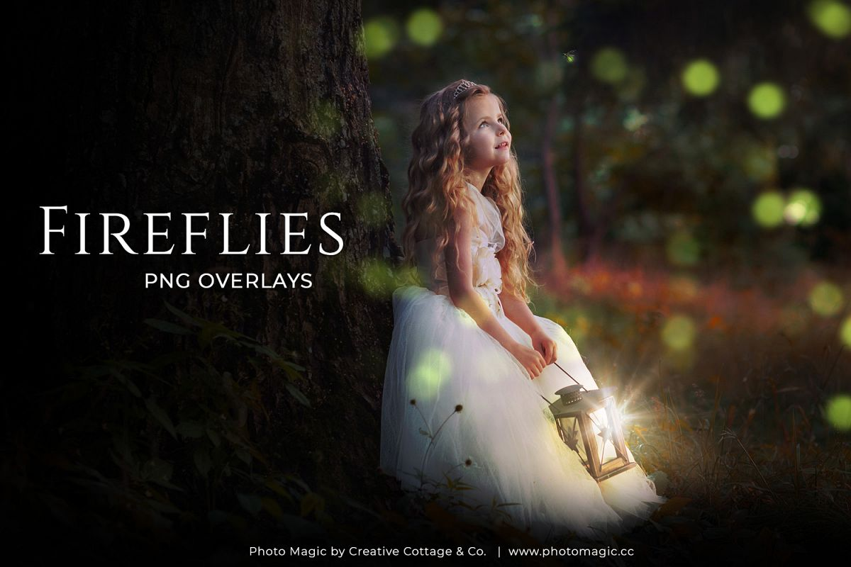 Fantasy Fireflies Photo Overlays example image 1