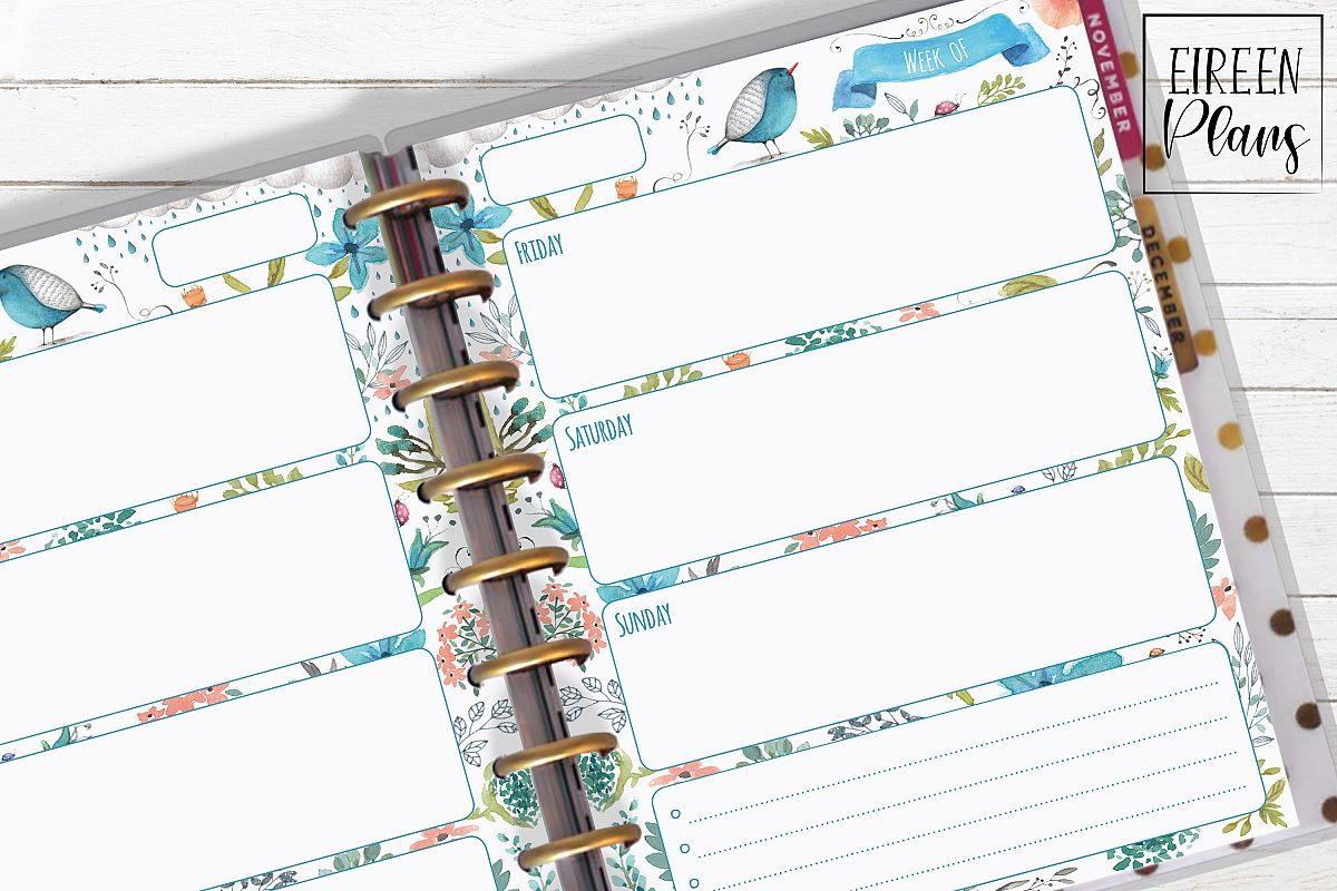 Weekly Printable for Classic Happy Planner example image 1