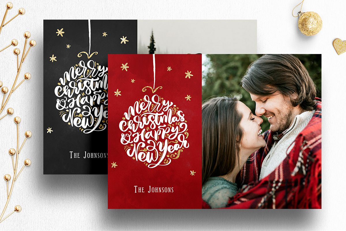 Photoshop Christmas Card Template For Photographers 012