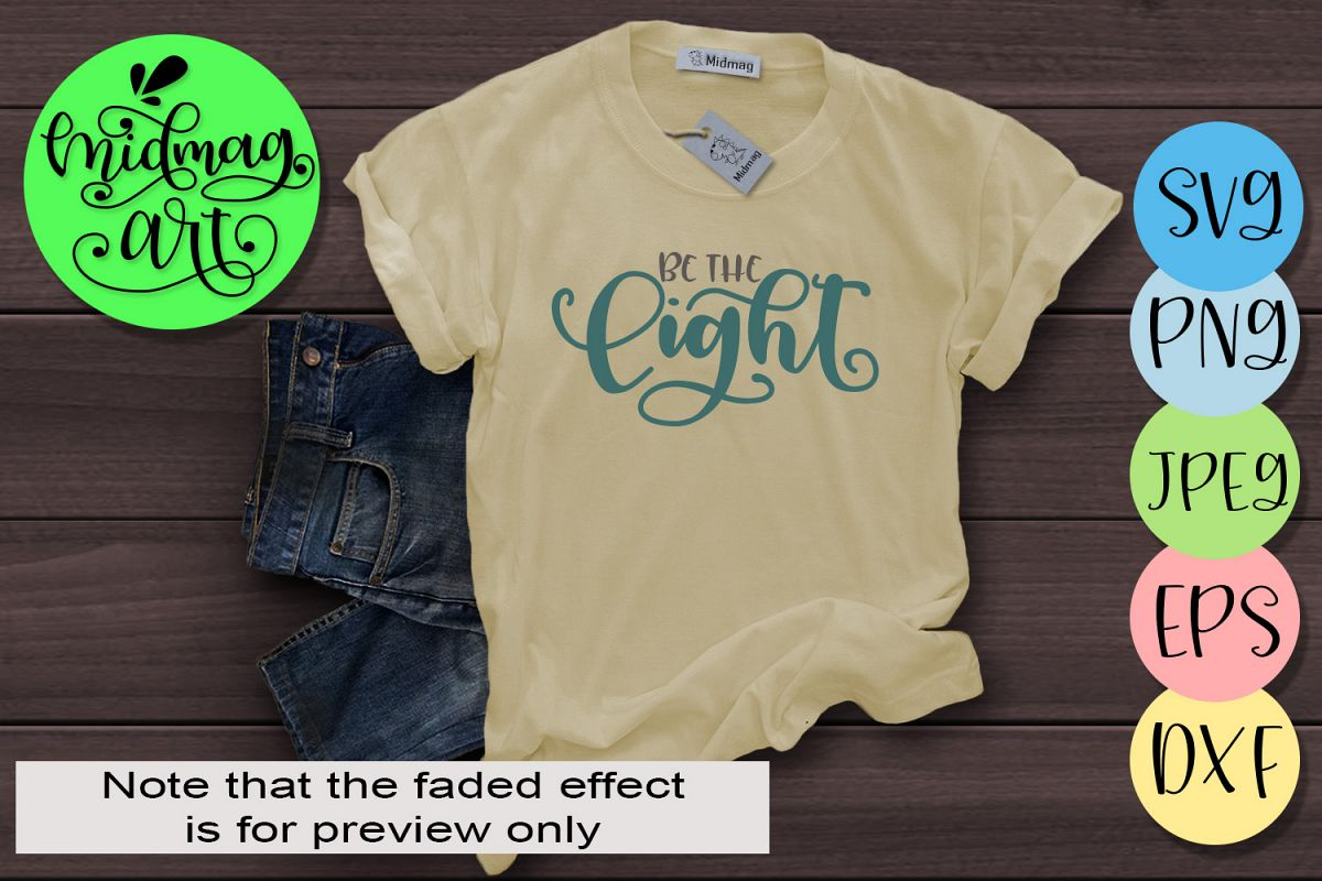 Be the light svg example image 1