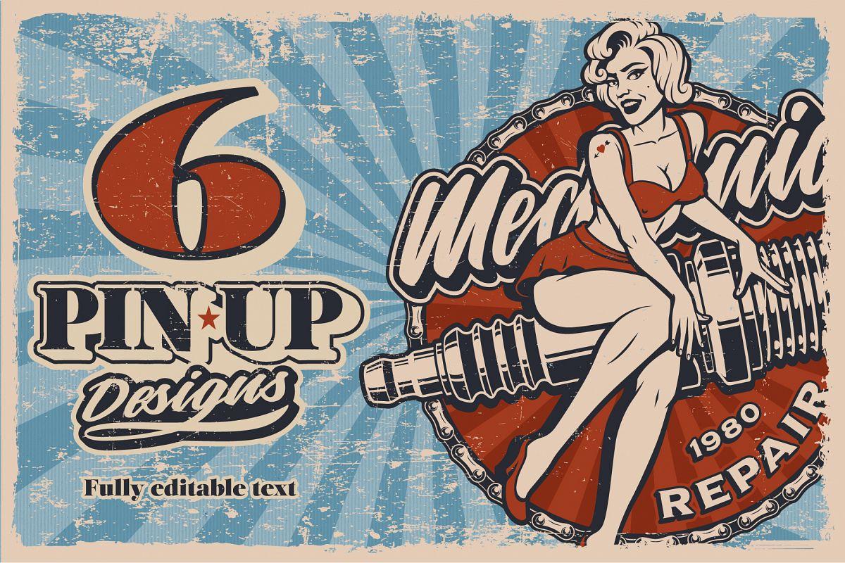 Pin Up Girls Bundle example image 1