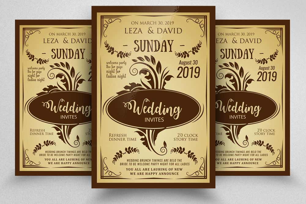 Wedding Invitation Poster Template example image 1