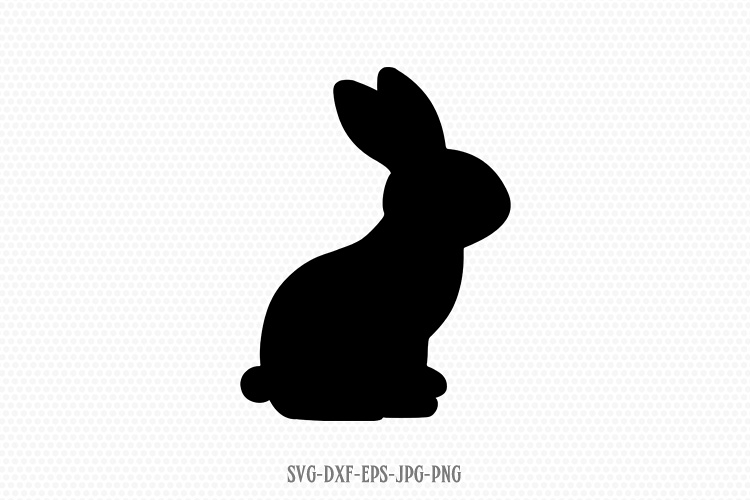 easter bunny rabbit silhouette svg example image 1