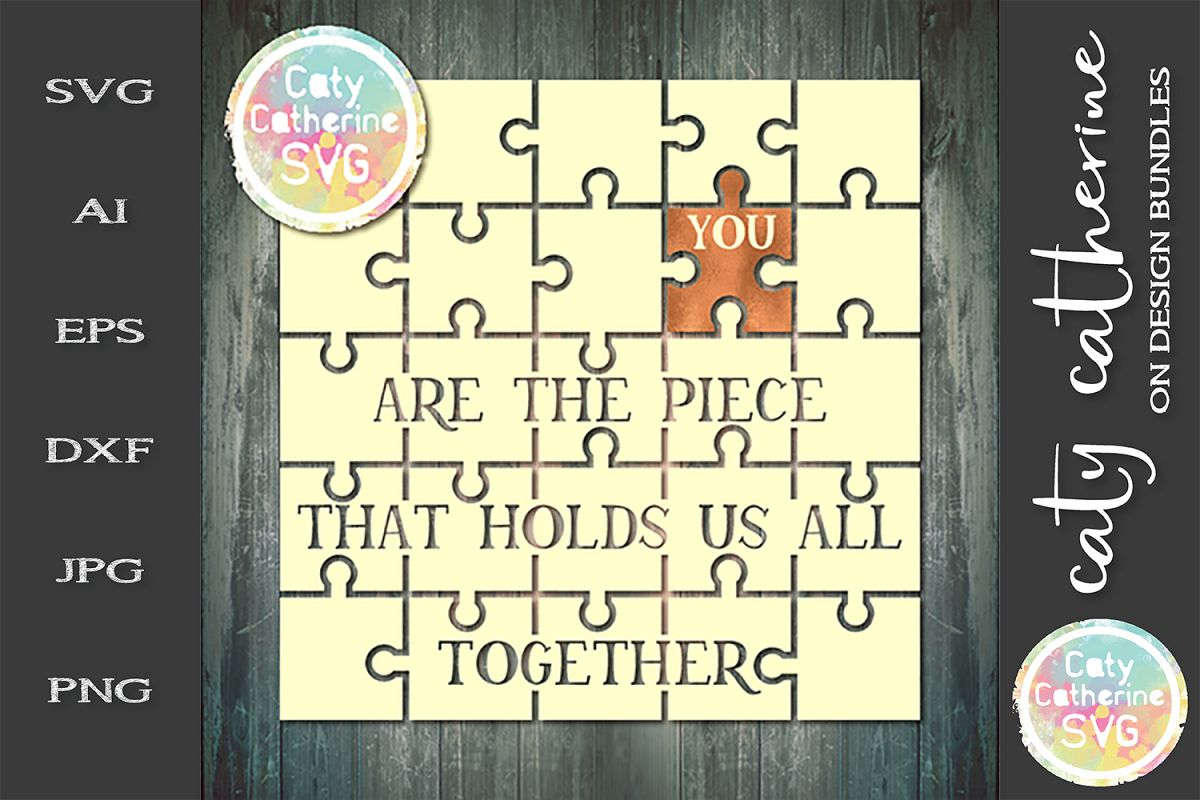 You Are The Place That Holds Us All Together SVG Cut File example image 1