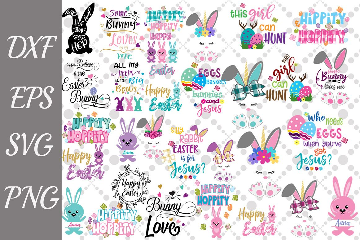 Easter Svg Bundle, EASTER BUNDLE SVG, Easter Bunny Svg example image 1
