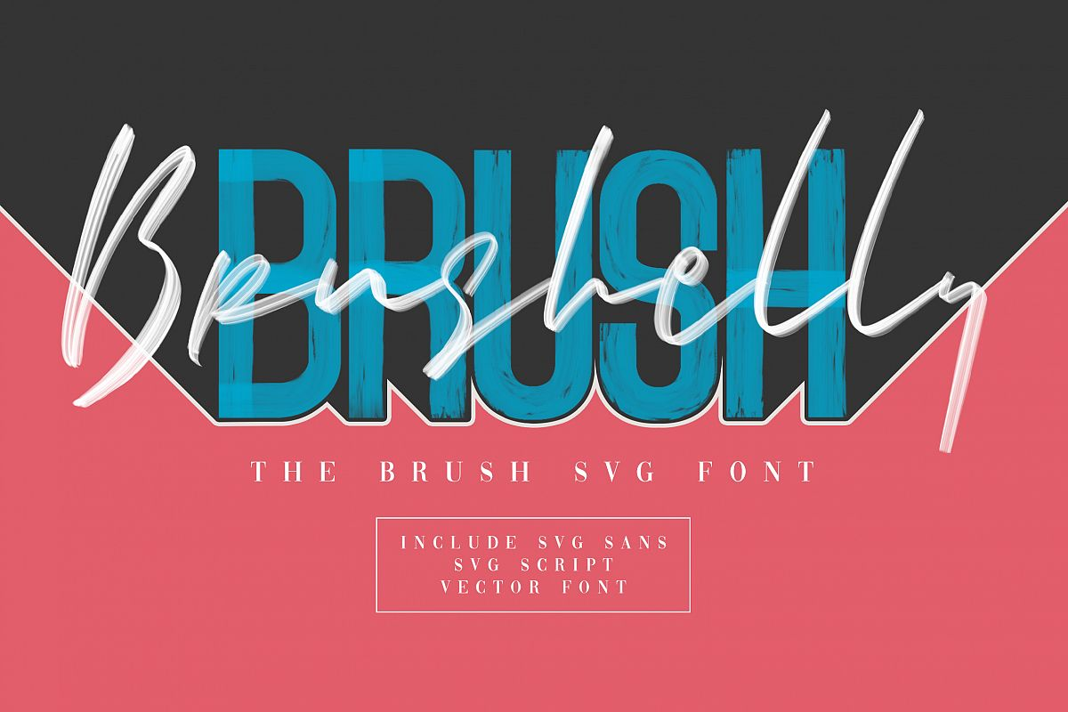 Brushelly SVG Brush Font example image 1