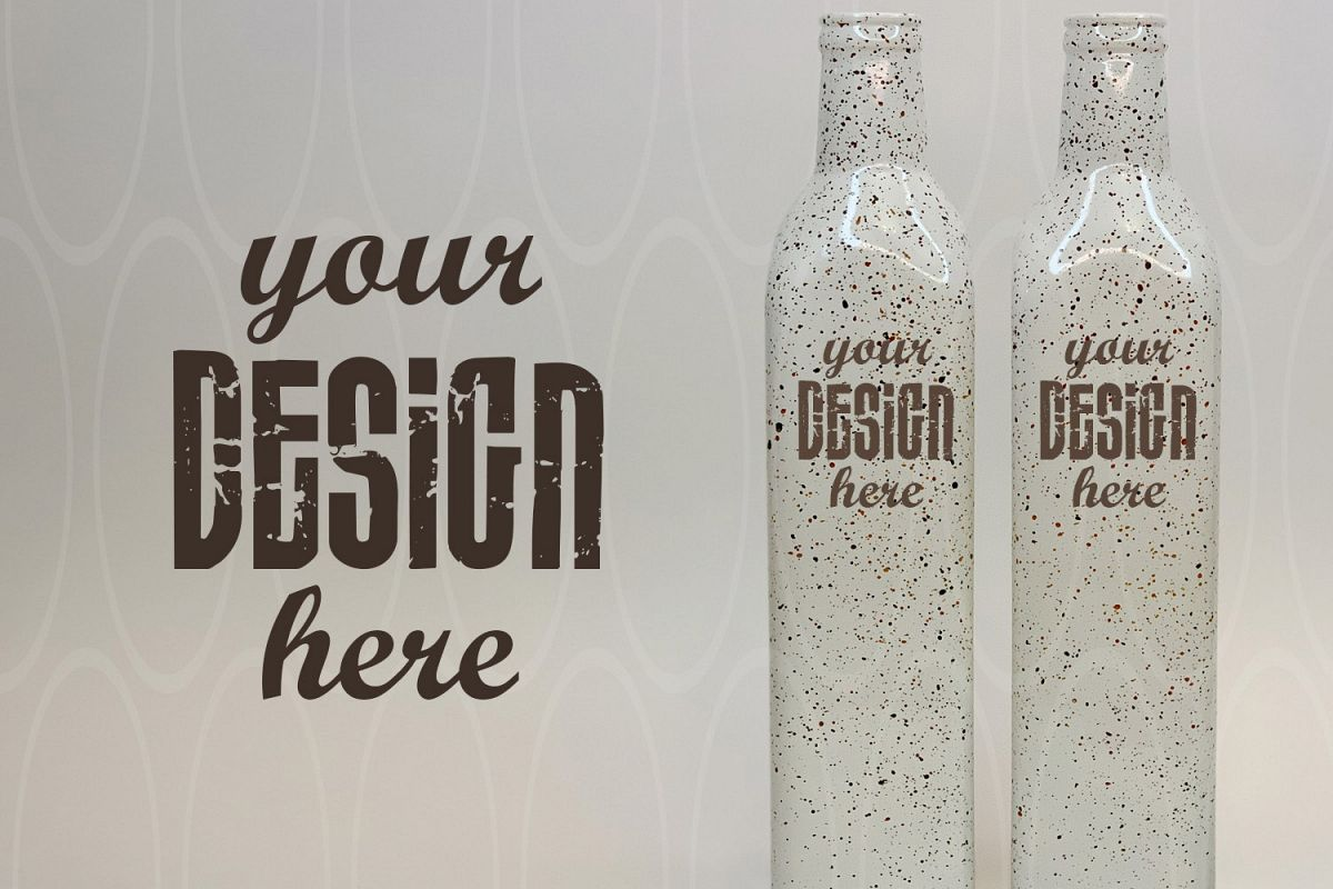 Blank Two white bottles Mockup Product Kitchen Graphic example image 1