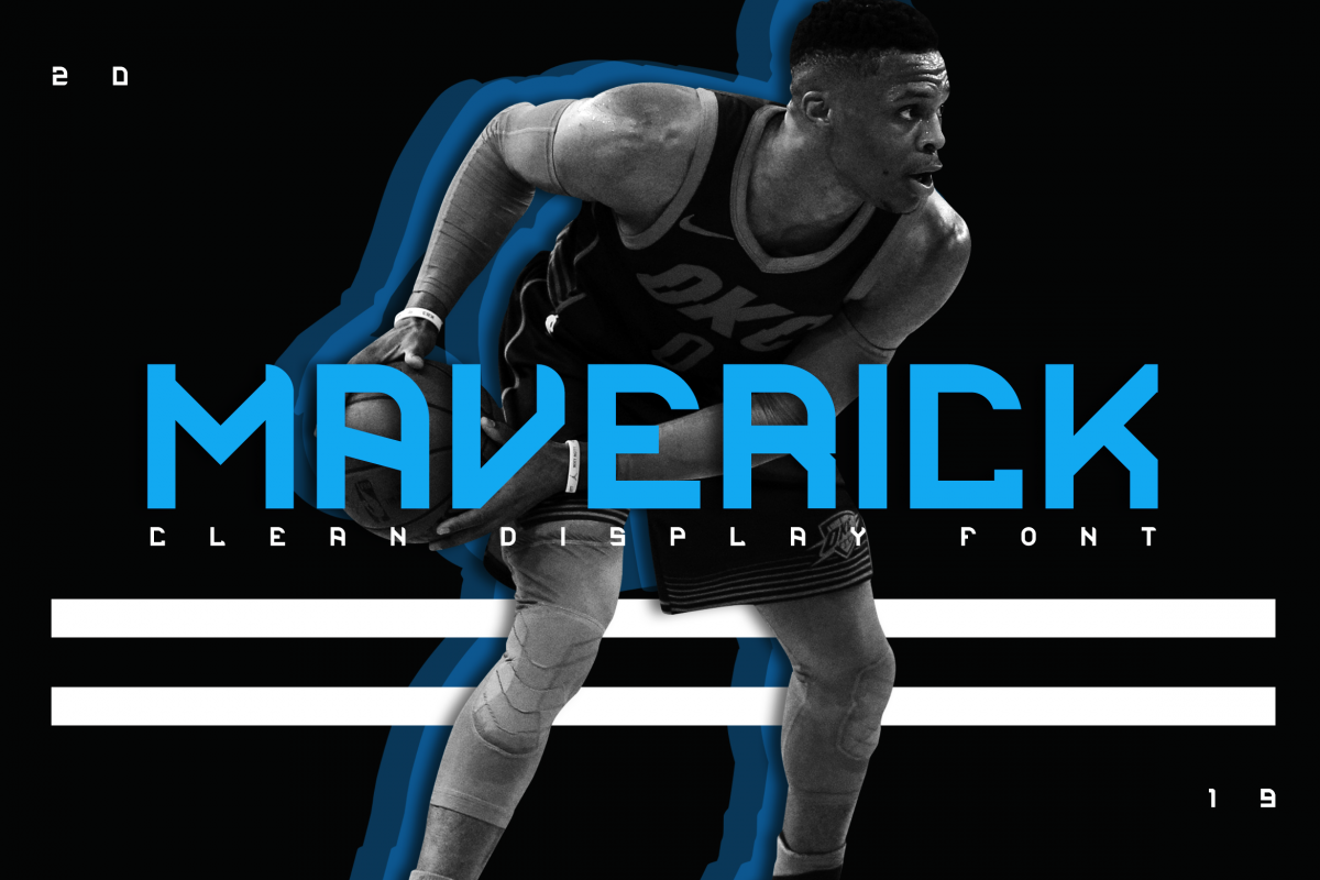 Maverick Clean Display Font example image 1