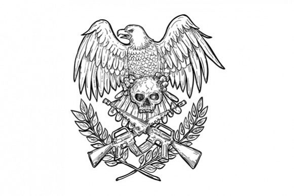 Eagle Skull Assault Rifle Drawing example image 1