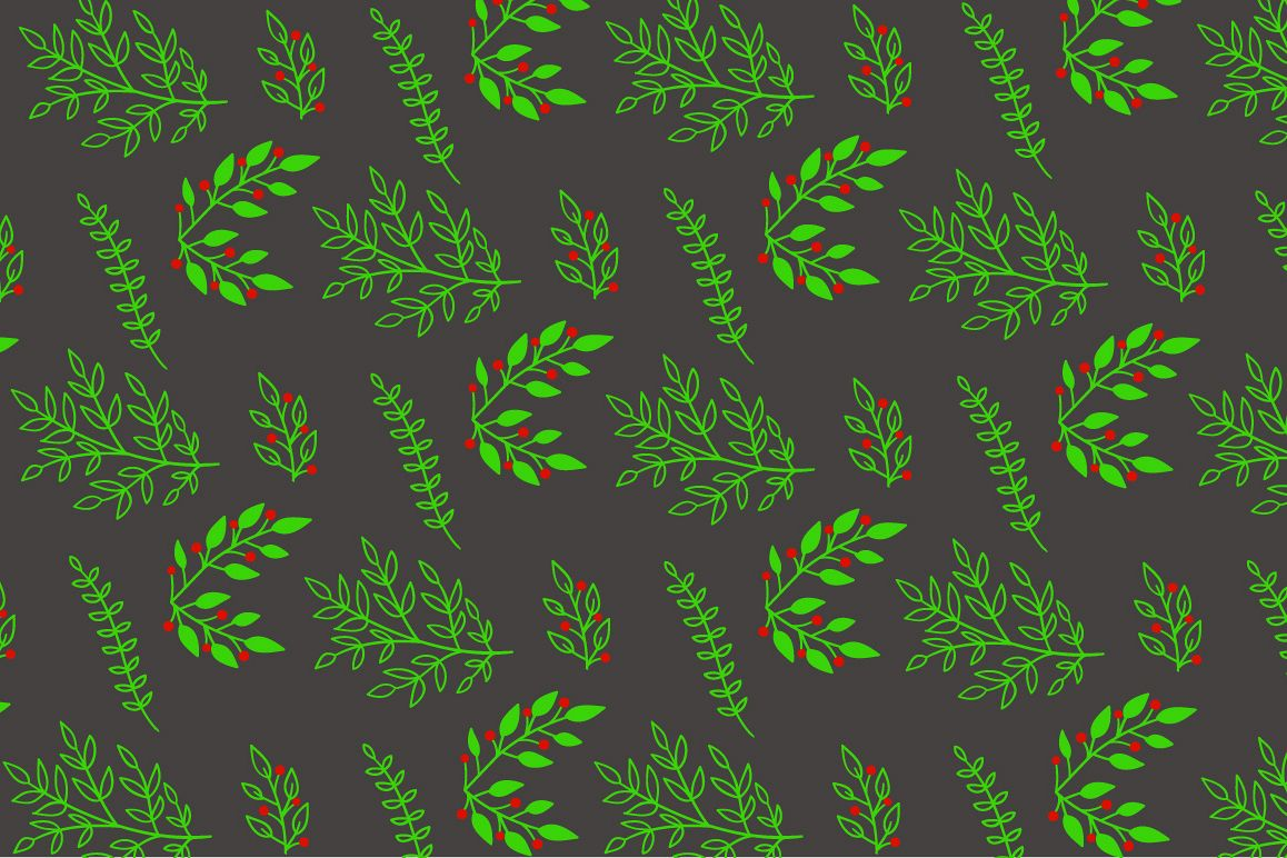 Christmas floral pattern example image 1