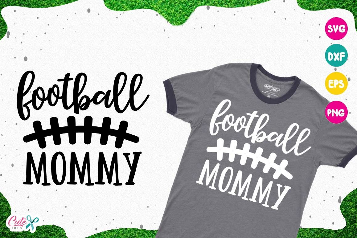 Football mommy SVG, cut files for craftter example image 1
