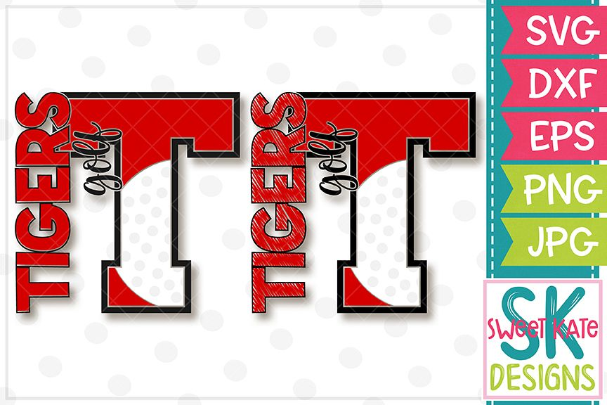 T Tigers Golf SVG DXF EPS PNG JPG example image 1