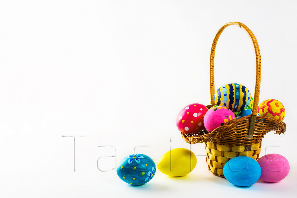 Easter eggs in the basket example image 1