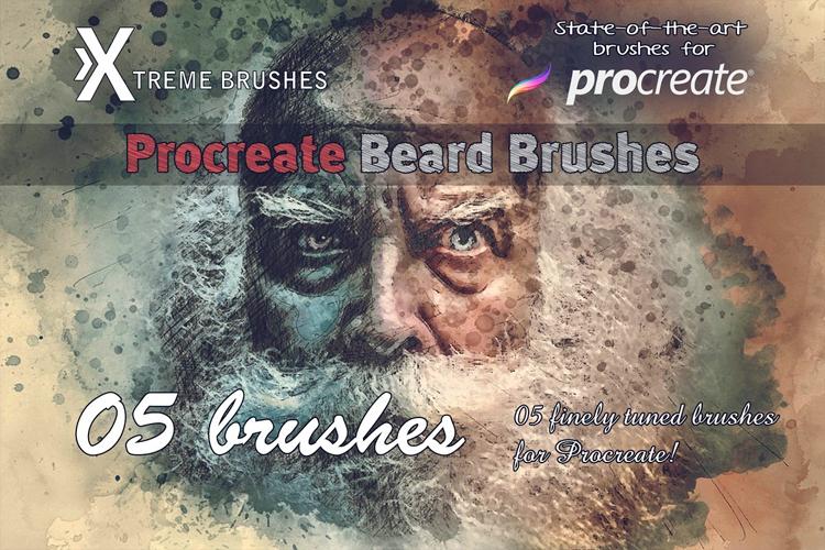 Procreate Beard Brushes example image 1