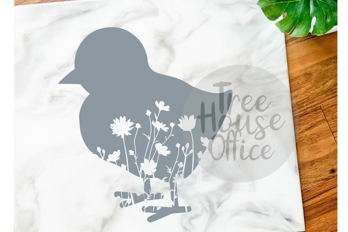 Floral Chick Mandala Forest Zentangle Flower SVG/DXF/PNG example image 1