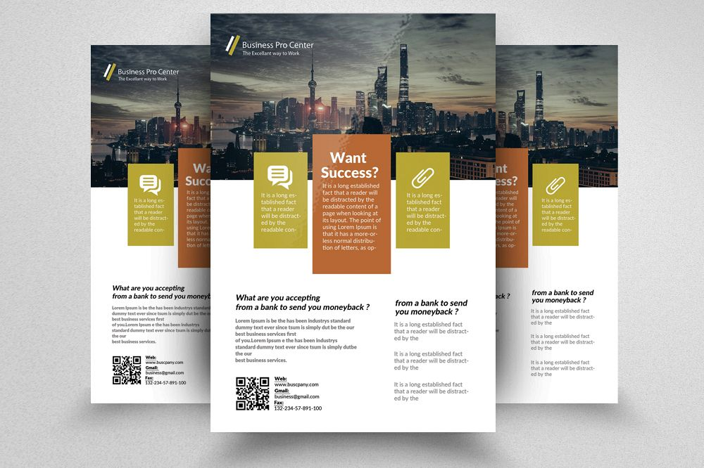 Accounting Firm Flyer Templates By Desi Design Bundles