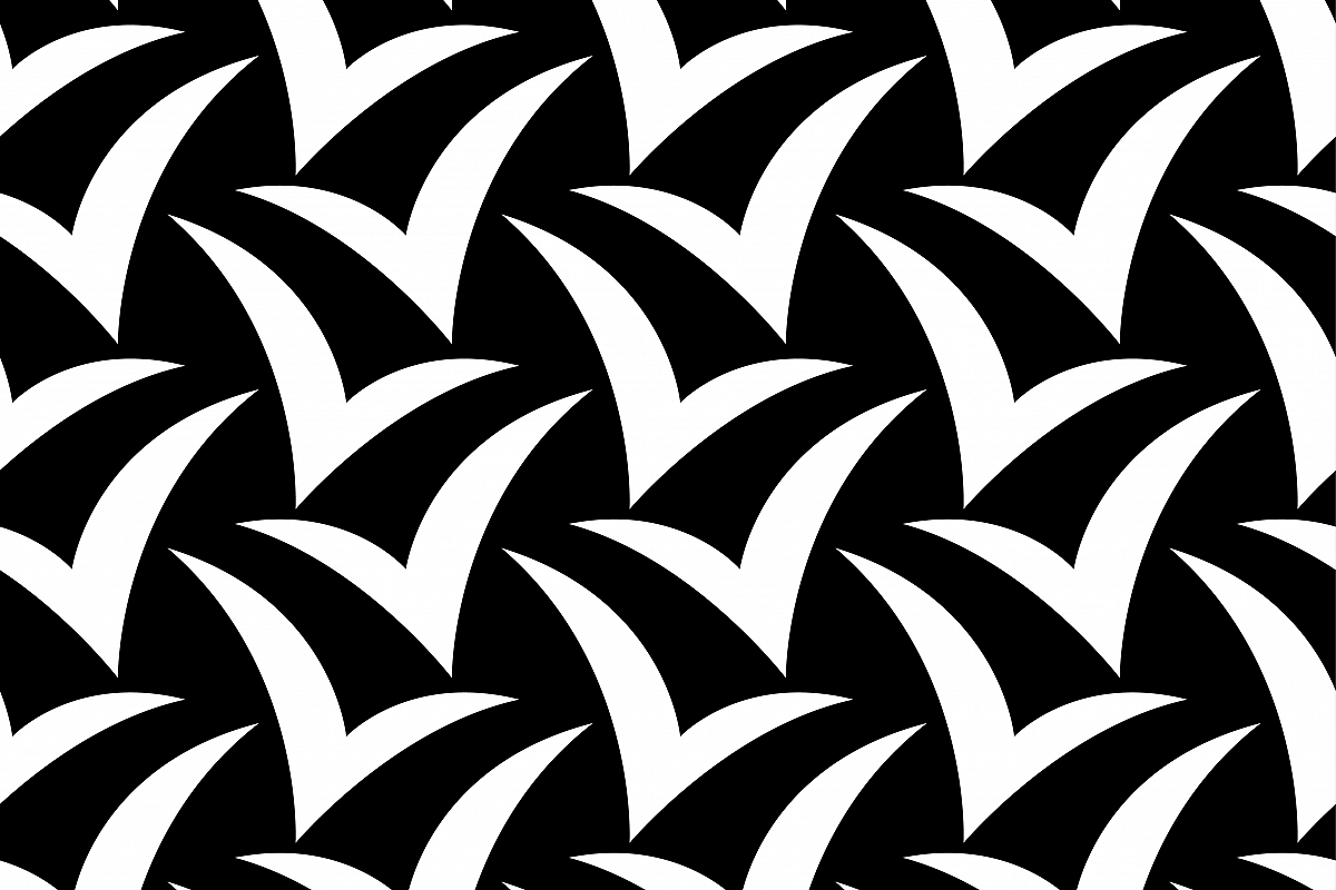 Seamless background with silhouettes of birds against the sky. Flat design. Vector illustration. Textile rapport.  example image 1