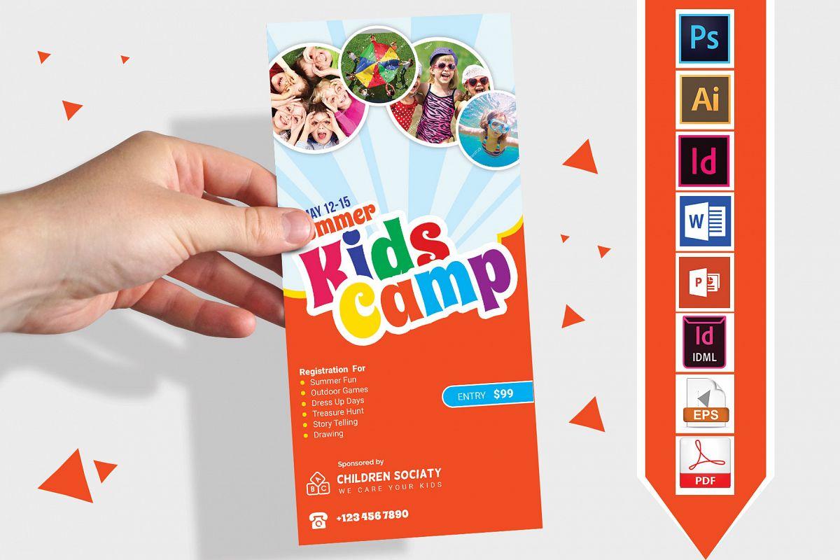Rack Card | Kids Summer Camp DL Flyer Vol-2 example image 1