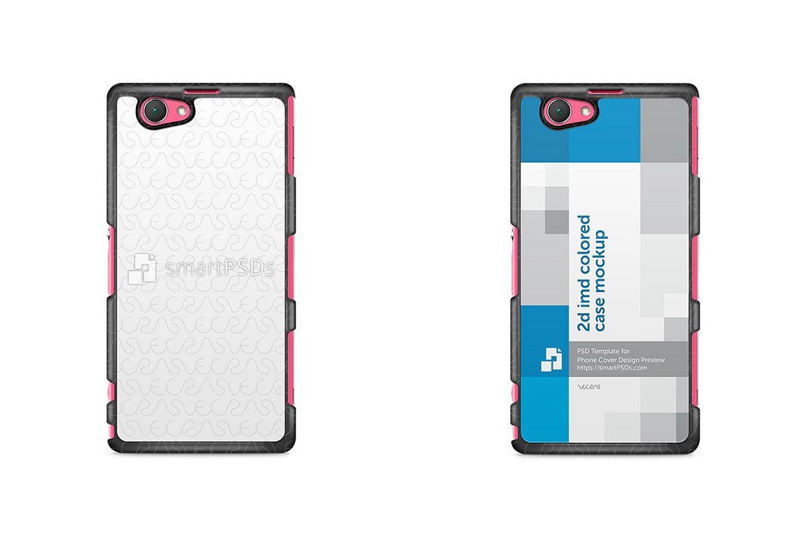 Sony Xperia Z1Compact 2d IMD Colored Mobile Case Design Mockup 2014 example image 1