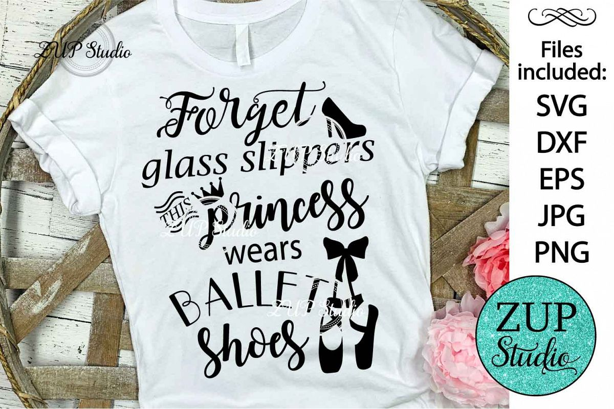 Glass slippers cutting files svg 38 example image 1