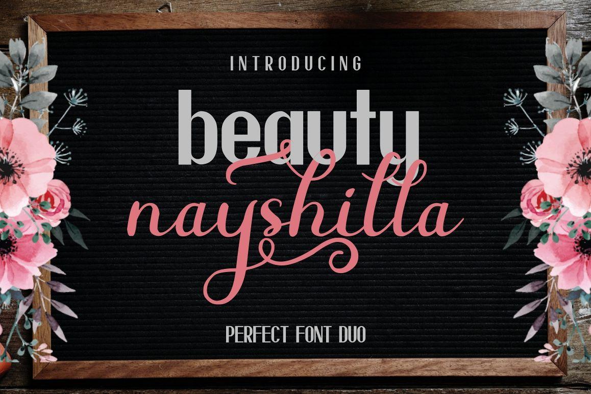 Beauty Nayshilla Font Duo example image 1