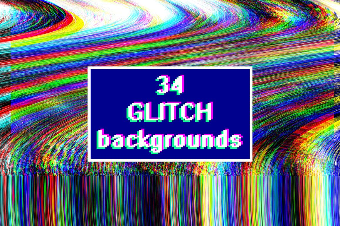 Glitch backgrounds. Screen error example image 1
