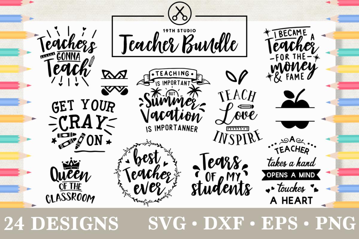 Teacher SVG Bundle - MB5 example image 1