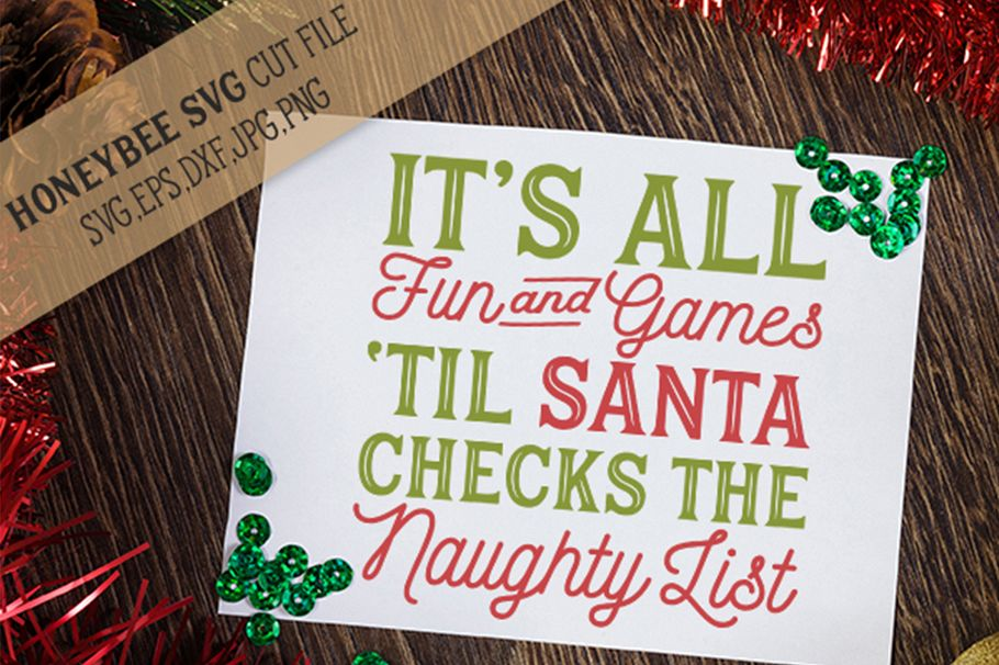 It's All Fun And Games Santa svg example image 1