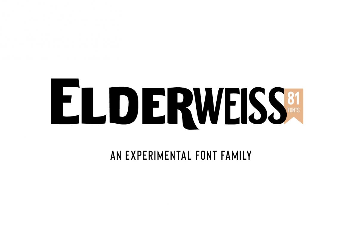 Elderweiss - An Experimental Sans Serif example image 1