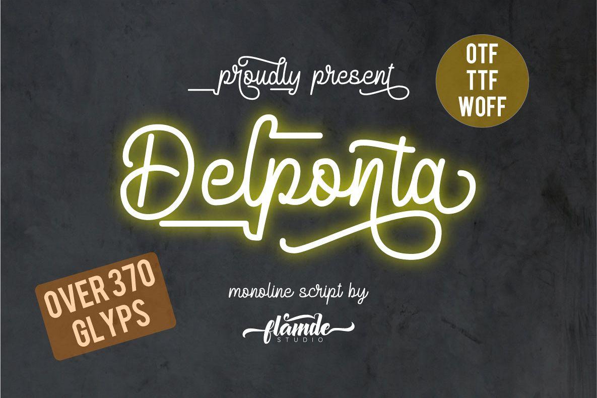 Delponta | Monoline Script example image 1