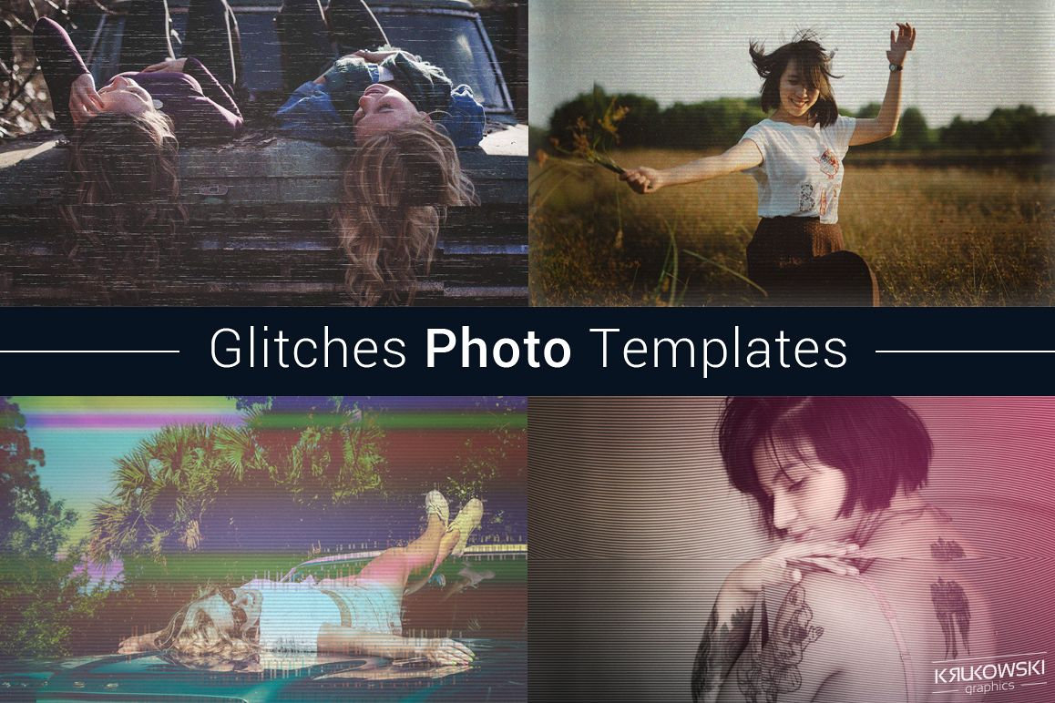 Glitches Photo Templates example image 1