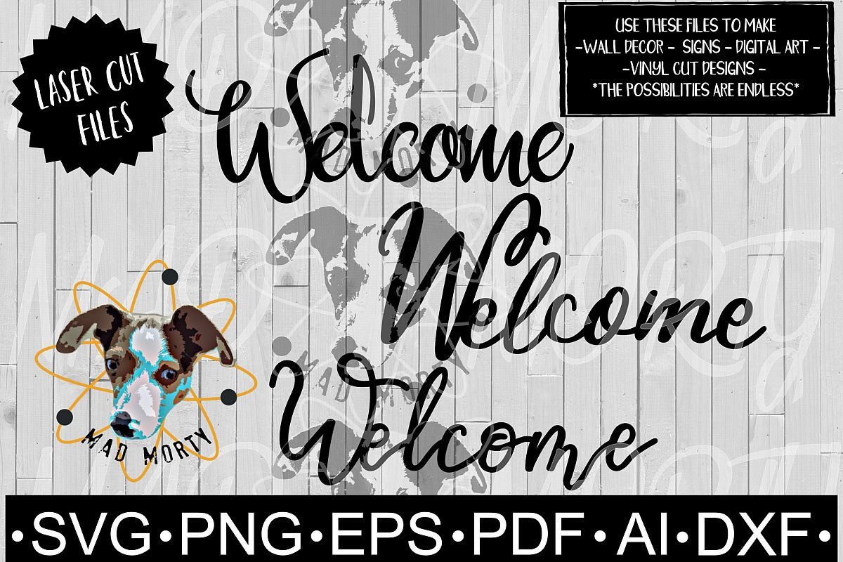 Welcome SVG & Laser Ready Cut File example image 1
