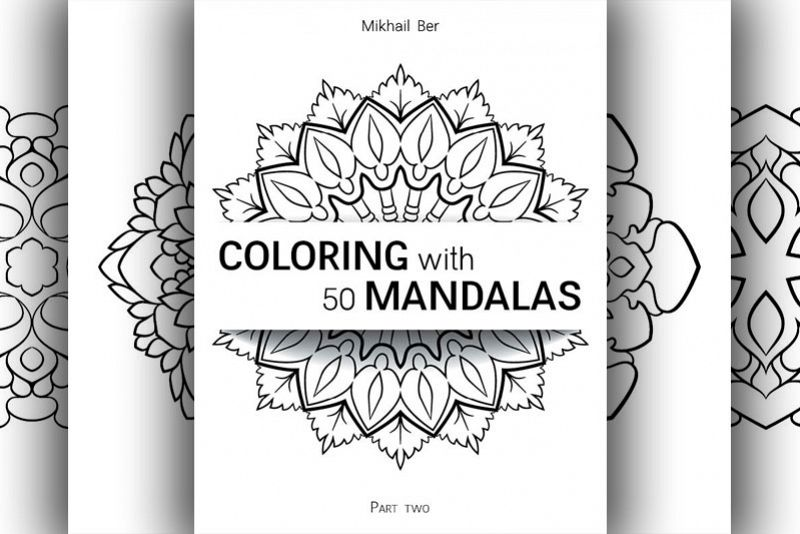 Coloring with 50 floral mandalas. Part two. example image 1
