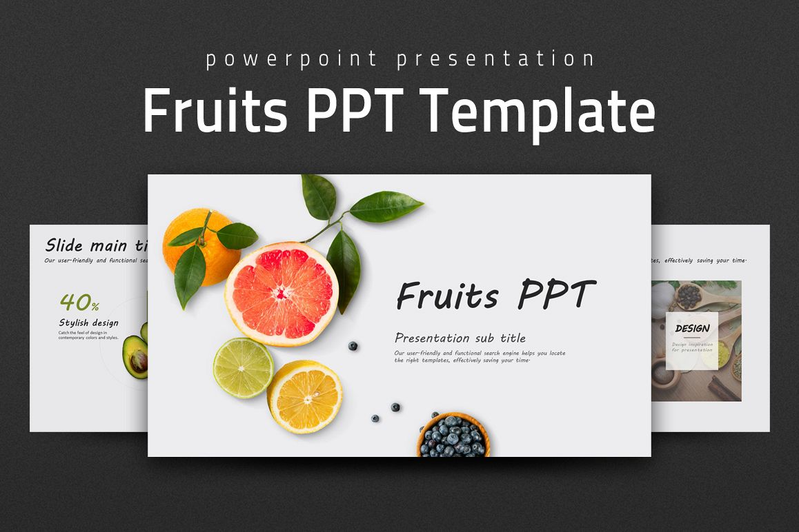 Fruits PPT  example image 1