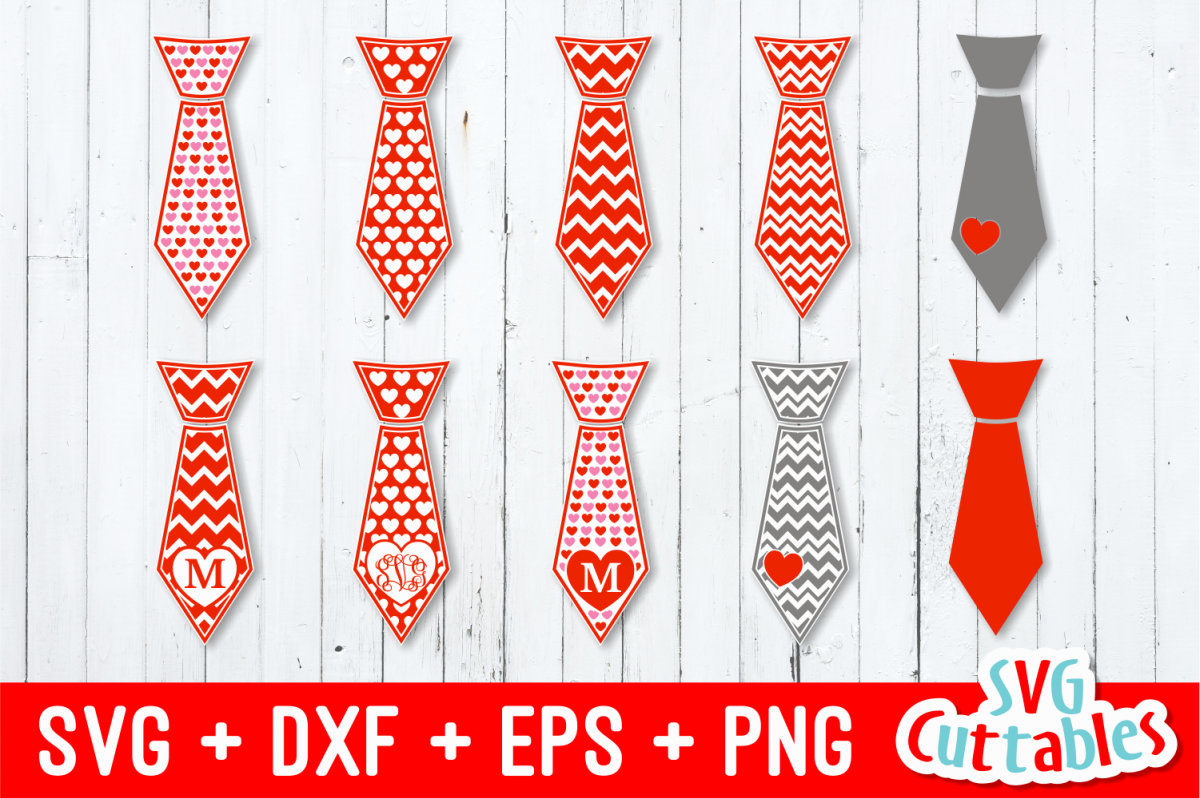 7094c6135864 Valentines Day Ties svg cut file example image 1