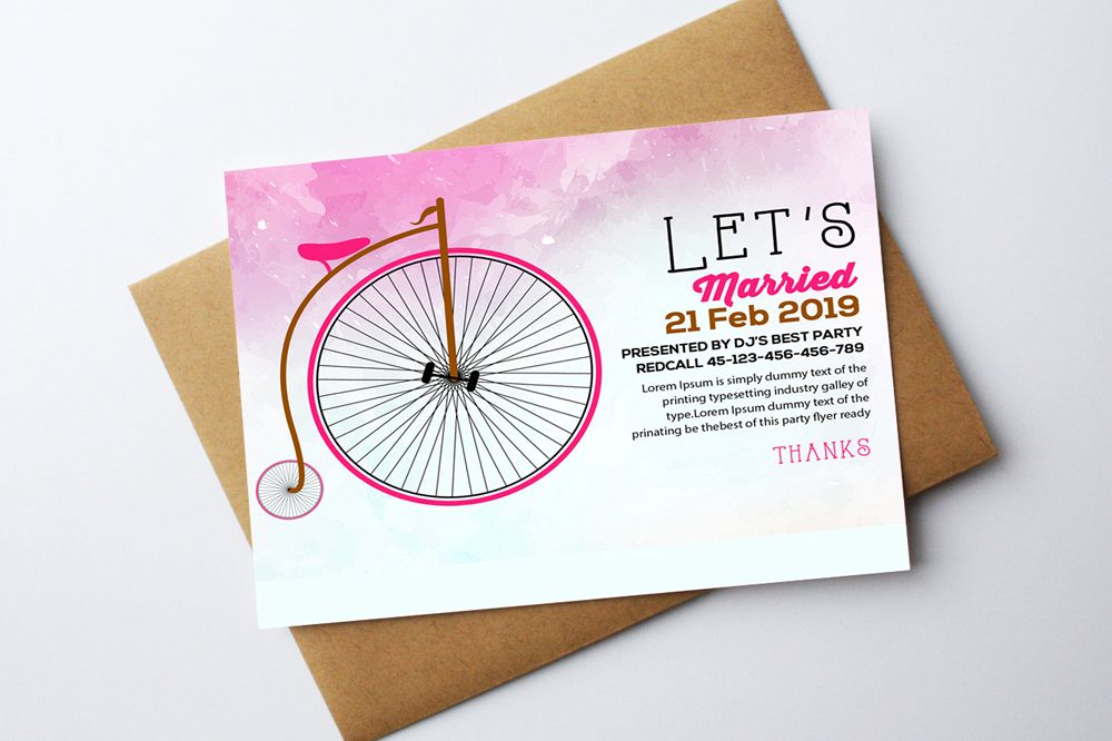 Wedding Invitation Card Template example image 1