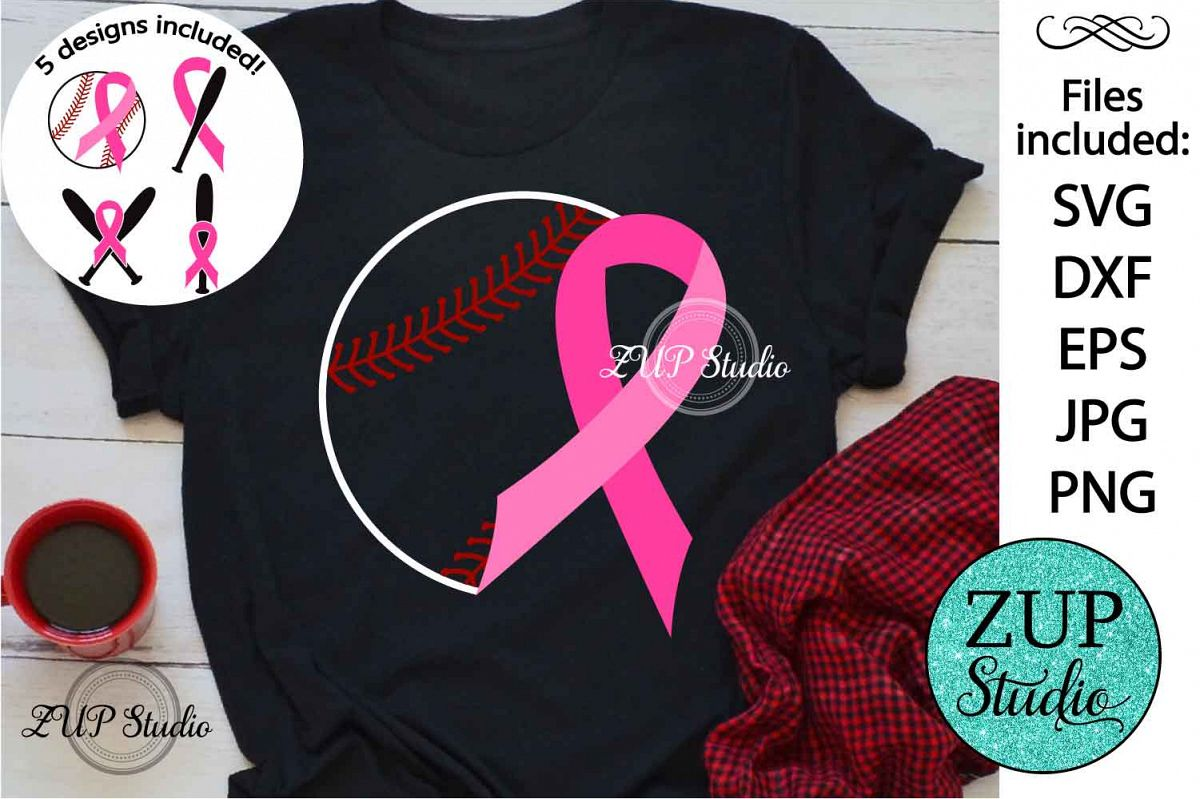 Breast Cancer Ribbon cutting files svg 13 example image 1